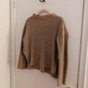 Cozy wool blend knit sweater